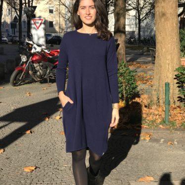Cashmere Kleid Blau