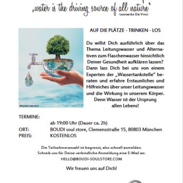 Wasser-Workshop – Dienstag 09.07.2019 (KOSTENLOS)
