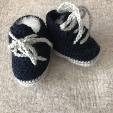 Baumwolle Baby Strick-Schühchen