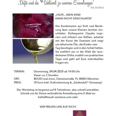 Duft-Workshop – Donnerstag 04.04.2019
