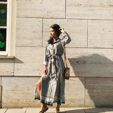 Maxi Kleid Mit Knöpfen