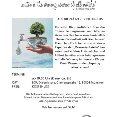 Wasser-Workshop – Dienstag 08.10.2019 (KOSTENLOS)
